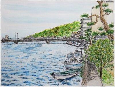 Obraz 萩 · 松本 川