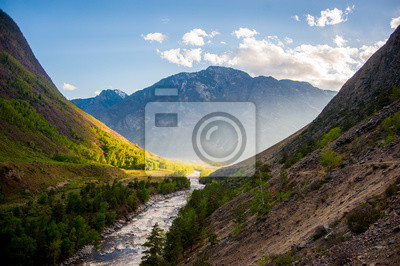Obraz Река между гор