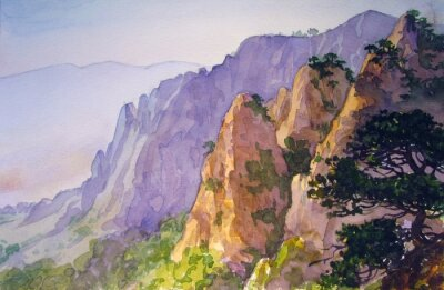 Obraz Вершины гор.