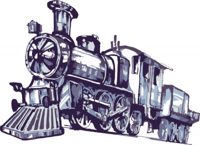 Obraz паровоз 2