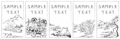 Obraz 風景メッセージカードセット2