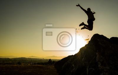 Obraz başarı sevinç gösterisi & hoplamak & zıplamak