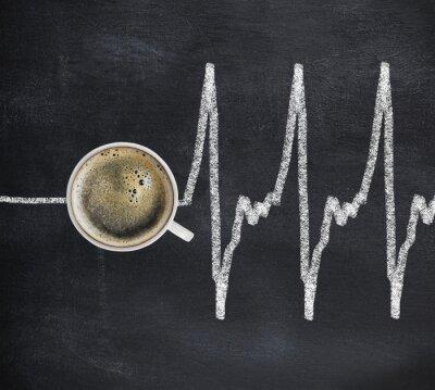Obraz kawy pełne siły i radości, kawy sprawia, że żyje