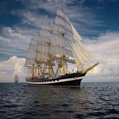 Obraz Yachting. Kolekcja statków i jachtów