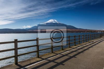 Yamanaka Jezioro z góry Fuji w Japonii