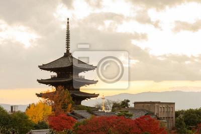 Yasaka Pagoda w godzinach wieczornych