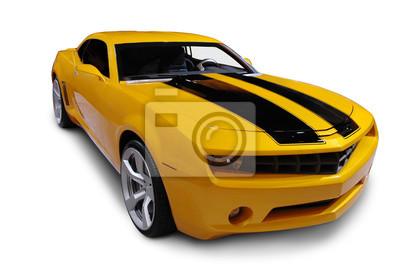 Obraz Yellow American Sports Car