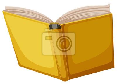 Obraz Yellow book on white background
