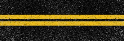 Obraz yellow lines on the road