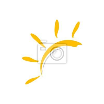Obraz Yellow Sun Vector Logo Template