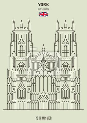 York Minster w York, Wielka Brytania. Ikona punktu orientacyjnego