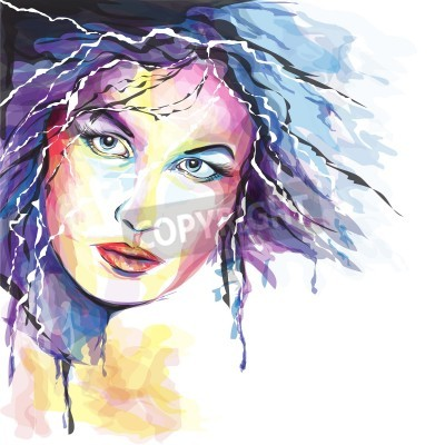 Obraz Young woman portait