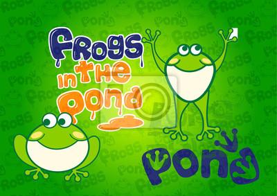 Obraz żaba w stawie