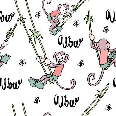 Zabawny nadruk z małpą