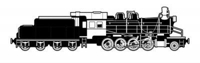 Obraz zabytkowym pociągiem.