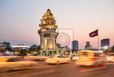 Zachód słońca nad Phnom Penh