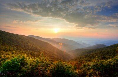Obraz Zachód słońca w górach