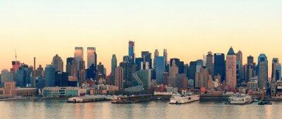 Obraz Zachód słońca w Nowym Jorku