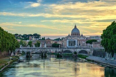 Obraz Zachód słońca w Rzymie - Włochy