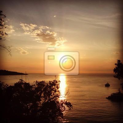 Zachód słońca z Sorrento