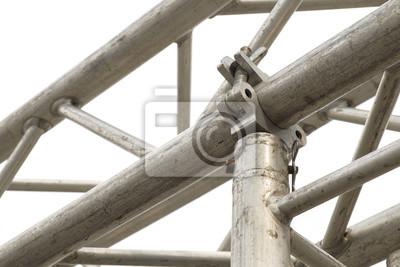 zaciski rusztowań / Zamknąć klamry metalowe rusztowanie.