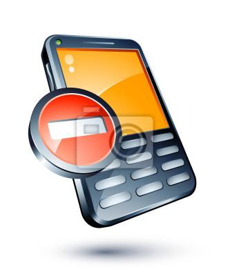 Zakaz telefon komórkowy