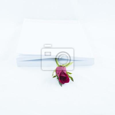 Obraz Zakładka książka z różą