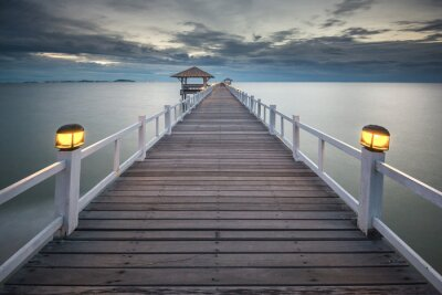 Obraz Zalesiony bridge