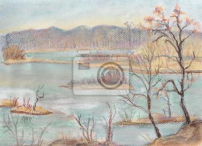 Obraz Zamarznięte jezioro