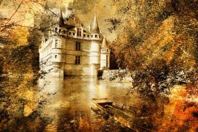 Zamek - kompozycji w stylu malarstwa