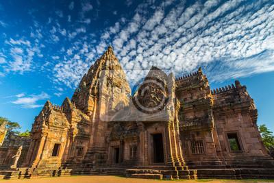 Zamek skały w północno-wschodniej Tajlandii Prasat Phanom szczebel