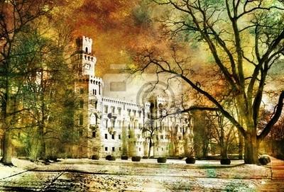 Zamek white - kompozycji w stylu malarstwa