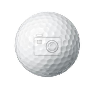 Obraz Zamknąć z piłeczka golfowa na białym tle