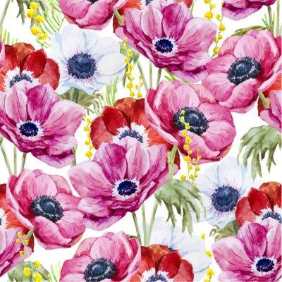 Obraz Zawilce kwiaty wzór