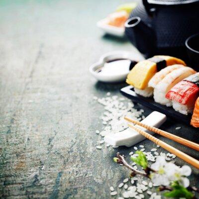 Obraz Zbliżenie świeże sushi
