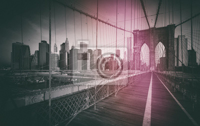 Zdjęcie Vintage du Pont de Brooklyn - Nowy Jork