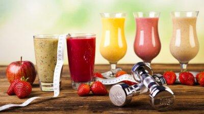 Obraz Zdrowa dieta, białko trzęsie, sport i fitness