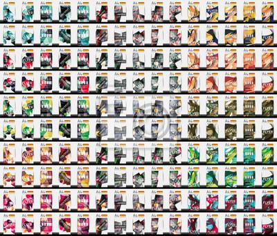 Obraz Zestaw 150 szablonów ulotki biznes