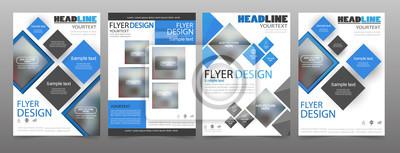 Obraz Zestaw 4 szablonów broszur biznesowych ulotki. Może być używany do publikowania, drukowania i prezentacji. Wektor. EPS 10