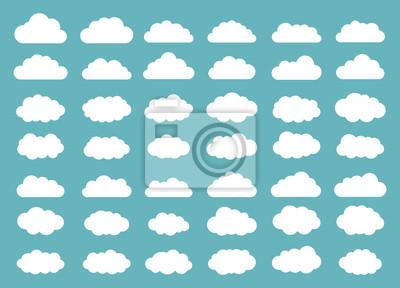 Obraz Zestaw chmur. Ikona chmury. Ilustracji wektorowych.