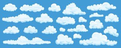 Obraz Zestaw chmur kreskówek