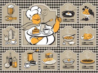 Obraz zestaw do menu z kuchni