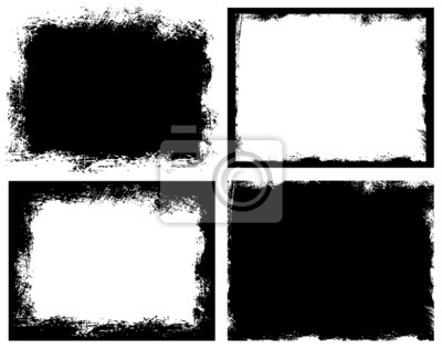 Obraz Zestaw grunge. Przerwane brudne szorstki klatek.