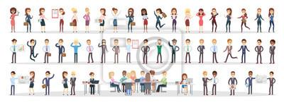 Obraz Zestaw ludzi biznesu.