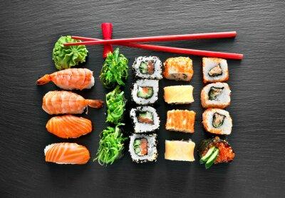 Obraz Zestaw sushi i pałeczki