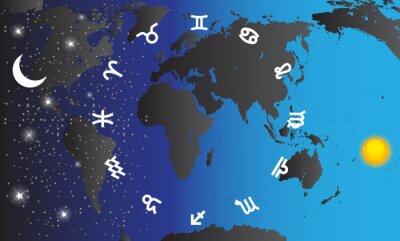 Obraz Zestaw symbol zodiaku. Ilustracji wektorowych.