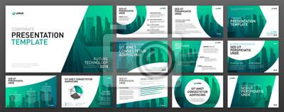 Obraz Zestaw szablonów prezentacji biznesowych