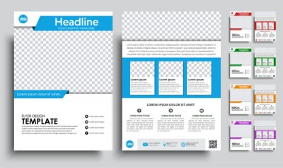 Obraz Zestaw ulotek (broszura) A4 z pustym miejscem na zdjęcie