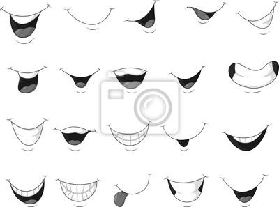 Obraz Zestaw uśmiechnięte usta
