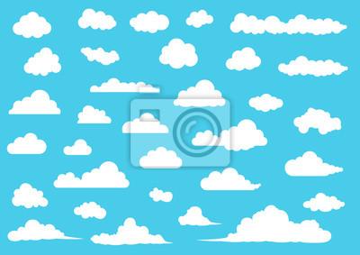 Obraz Zestaw wektor chmury